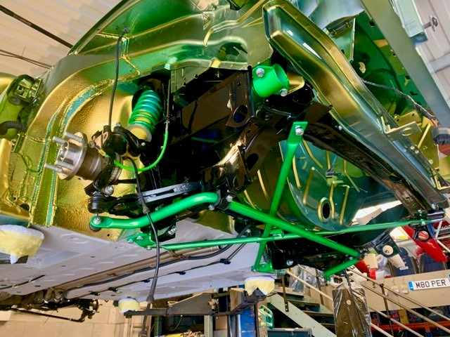 16.MG TF Bittersweet Monogram Front Subframe fitted - MG TF 160 Monogram Bittersweet Renovation at MGFnTFBITZ