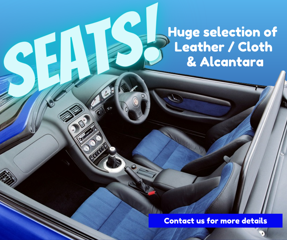 A large selection of MGF & MG TF Seats available at MGFnTFBITZ
