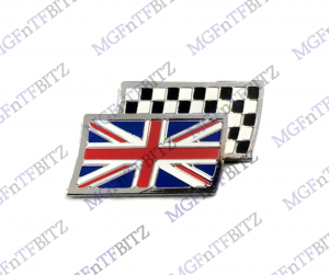 Union Jack Chequered Flag Wing Badge