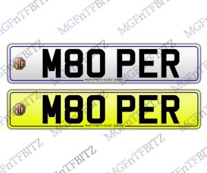 Private Number Plate M80PER