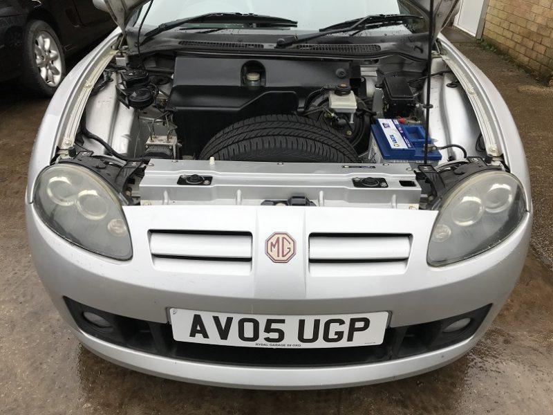 MG TF 135 2005 plate in Starlight Silver 53k for sale at MGFnTFBITZ