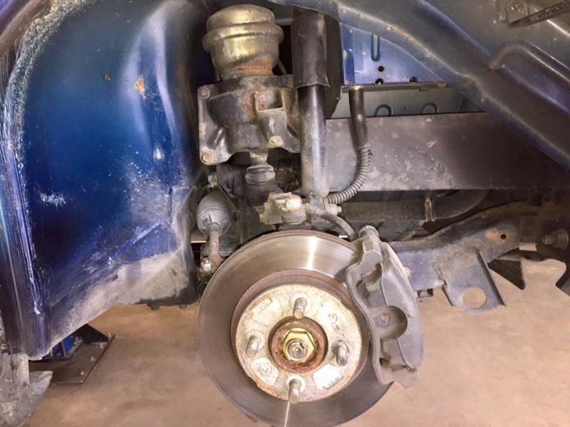 MGF Front brake before AP 4 pot caliper upgrade at MGFnTFBITZ Glossop