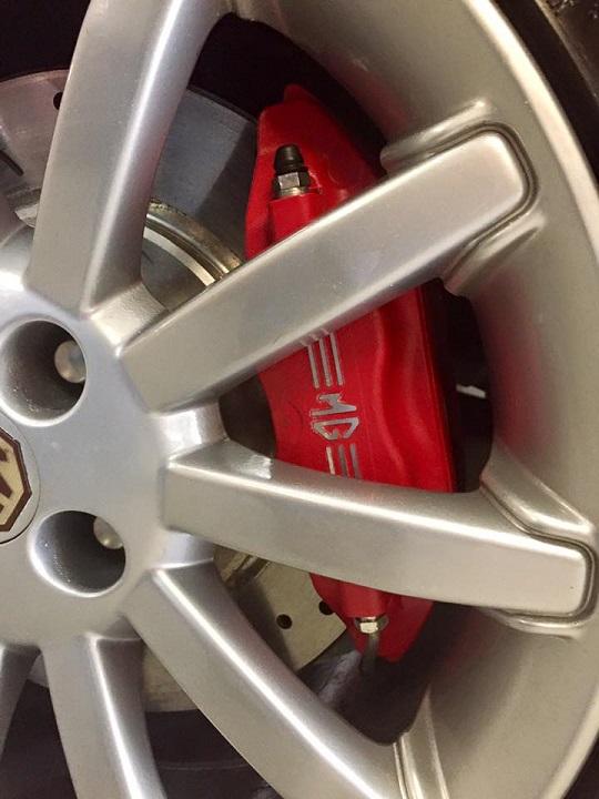 MGF MG TF 11 spoke custom powder coated MG wheel at MGFnTFBITZ Glossop