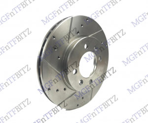 MGF MG TF 304mm Drilled & Grooved Front Discs SDB000230 at MGFnTFBITZ