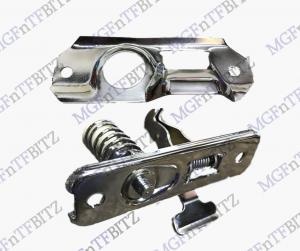 MGF MG TF Chrome Bonnet Latch Plate & Bonnet Striker Assembly FPT10005CH FPB100110CH at MGFnTFBITZ Glossop