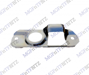 Chrome Bonnet Latch Plate MGF MG TF LE500