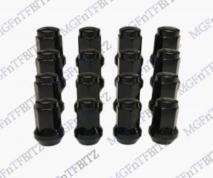 MGF MG TF LE500 Black Wheel Nuts full set aftermarket solid cone shape at MGFnTFBITZ