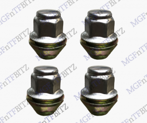 MGF MG TF LE500 Genuine MG Wheel Nuts NAM9077 set of 4 nuts M12 x 15 hex 19mm cone shape at MGFnTFBITZ