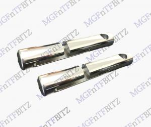 MGF MG TF LE500 Polished Alloy Circular Seatbelt Tidies at MGFnTFBITZ