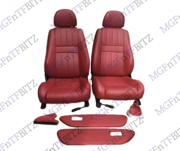 MG Red Leather Seats Door Card Inserts & Gaiters