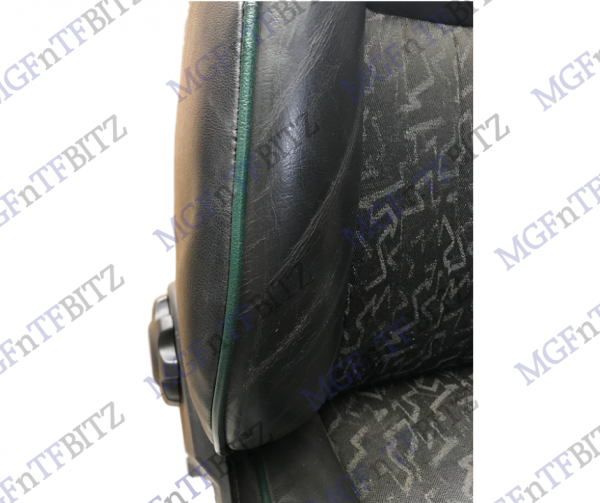 MGF MK1 Black Leather Seats with green fusion cloth insert
