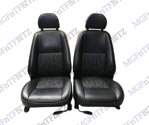 MK1 Black Leather Seats with green fusion inserts