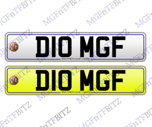 MGF Private Number Plate D10 MGF