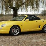 MGF Trophy 160 under the weeping willow tree MGFnTFBITZ customer car