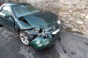 End of Life Vehicles - MK1 MGF Accident Damaged VIOLA before repair at MGFnTFBITZ Glossop