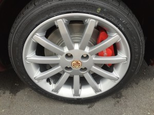 Mr B Copperleaf MGF Renovation 16inch 11 spokes with AP calipers at MGFnTFBITZ Glossop