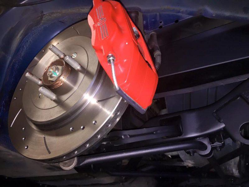 Mr B from Sweden MGF Front brake 4 pot AP upgrade at MGFnTFBITZ Glossop