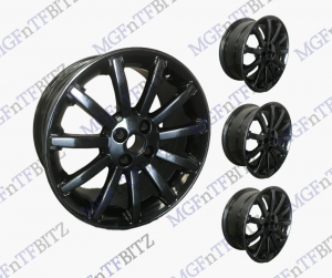 "Black 16"" 11 Spoke Wheels"