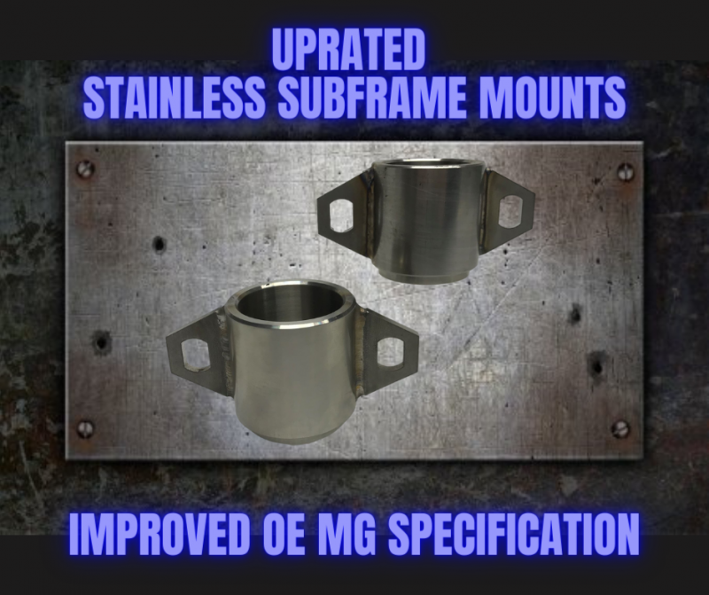 Uprated Stainless Subframe Mounts for MGF & MG TF at MGFnTFBITZ