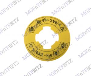 Yellow Coolant Warning Label PAK100380A