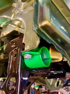 15.MG TF Monogram 160 Bittersweet Full rebuild - candy lime green powder coated subframe mounts - MG TF 160 Bittersweet Renovation at MGFnTFBITZ