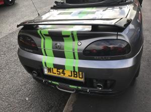 X power with Green stripes rear