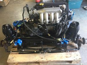 10b. MG TF 160 engine seated in new powder coated subframe at MGFnTFBITZ