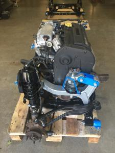 10c. MG TF 160 engine seated in new powder coated subframe at MGFnTFBITZ Glossop
