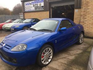 11a. a totally transformed Trophy Blue MG TF 160 at MGFnTFBITZ Glossop