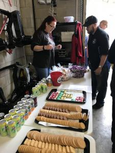 13.Donations & nibbles Topless Around The Peak District Charity Run 2018 at MGFnTFBITZ