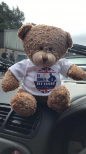 19.UK Homes 4 Heroes Bear ready for the Topless Around The Peak District Charity Run 2018 at MGFnTFBITZ