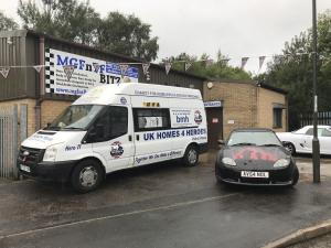 23.UK Homes for Heroes and MG TF at Topless Around The Peak District Charity Run 2018 at MGFnTFBITZ