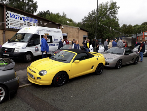 36.MGF Trophy 160 MGFs & MG TFs at Topless Around The Peak District Charity Run 2018 at MGFnTFBITZ
