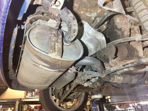 4. 52 plate MG TF exhaust in a poor state at MGFnTFBITZ