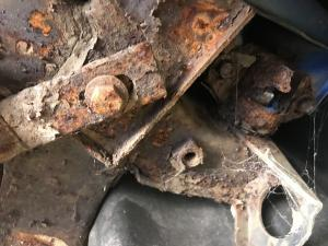 7. 52 plate MG TF corroded front subframe at MGFnTFBITZ Glossop
