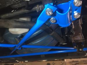 7a. new MG TF powder coated front subframe with powder coated braces & mounts fitted at MGFnTFBITZ Glossop