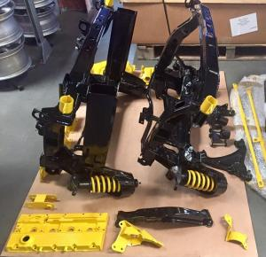 63 MG TF Front and Rear Powder coated subframe suspension parts from MGFnTFBITZ