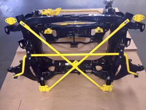 64 MG TF Powder coated subframe suspension parts from MGFnTFBITZ ready for fitting