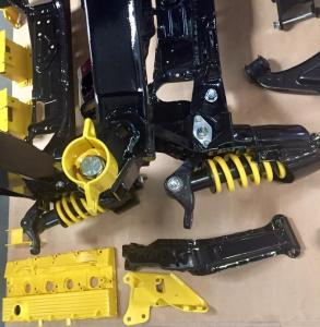 65 MG TF Powder coated subframe suspension parts from MGFnTFBITZ