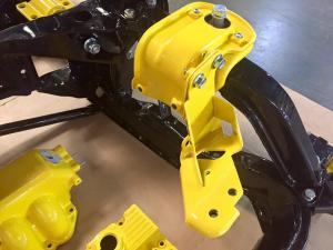 71 MG TF No.1 Monogram  Powder coated subframe suspension parts from MGFnTFBITZ