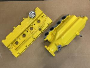 73 MG TF Powder coated rocker cover & manifold parts from MGFnTFBITZ for No.1 Sunspot MG TF