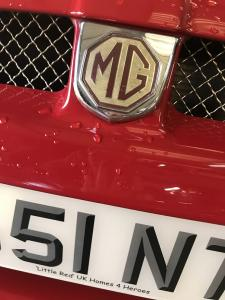 17.Custom Show plate number plate for Little Red at MGFnTFBITZ Glossop