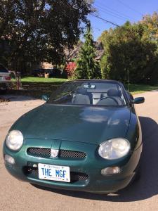 Brent's MK1 British Racing Green MGF in Ontario Canada MGFnTFBITZ Glossop MG