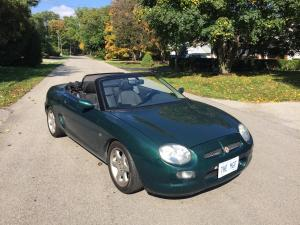 Brent's MK1 British Racing Green MGF in Ontario Canada MGFnTFBITZ MG