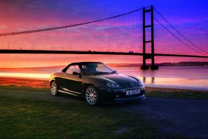 MG TF with a gorgeous sunset by the bridge- MGFnTFBITZ Customers Cars Gallery