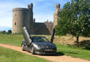 Andy's super facelift MGF at the castleMGFnTFBITZ Customer Cars Gallery
