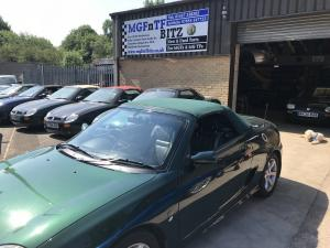 MG TF Green New Mohair Glass Screened Hood fitted at MGFnTFBITZ Glossop