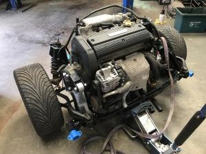 MG TF Nocturne 160 Rear Subframe Renovation at MGFnTFBITZ engine fitted in refurbished subframe