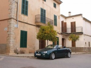 Danny's MGF back home in Mallorca